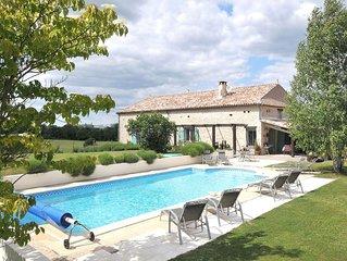 Charming farmhouse property Sleeps 10 in 5 en-suite bedrooms.Large heated pool.