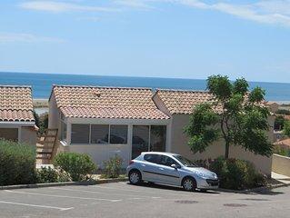 Super Blick über Meer, Strand und Ort, Balkon, 1_kleiner Hund erlaubt, strandnah