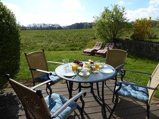 Erleben Sie Urlaub! Ruhige Ferienwohnung mit Garten & Terrasse, WLAN