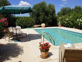 Privates meernahes Ferienhaus mit eigenem Pool und großem Olivengarten