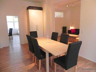Modernes 4,5-Zimmer-Apartment für bis zu 10 Personen, inkl. WLAN,