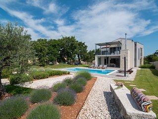 LOUNGE KAPELANA - Exklusive moderne Villa in Istrien im ländlichen Ruhe