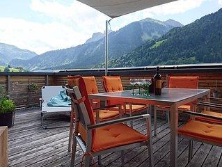 Ferienwohnung (85 m2) mit grosser sudseitiger Terrasse (30 m2) und Sauna
