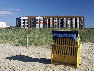 FeWo direkt am Strand mit Panoramablick, beheiztem Innenschwimmbad und Sauna