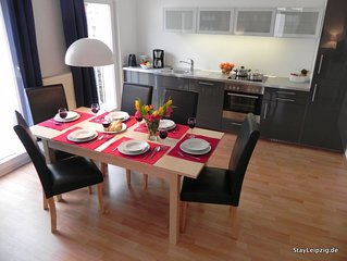 3Zi.-Apartment 'Karl-Heine', optimal gelegenes Apartment in Plagwitz (WLAN)