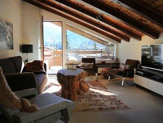 Gemutliche 3.5 Zimmer Attikawohnung mit Blick aufs Matterhorn