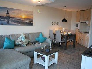 exklusive Ferienwohnung -  Meerblick - Schwimmbad - Sauna - WLAN - Strandkorb