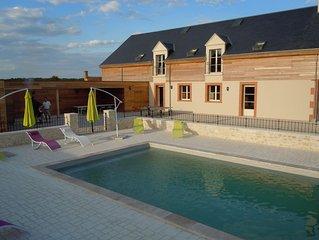 Location maison spacieuse Région châteaux de la Loire pour 15 pers.