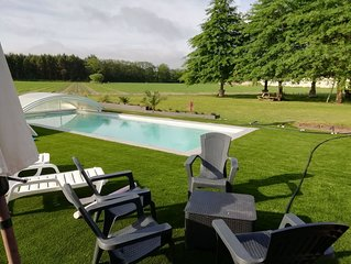 maison de campagne avec piscine au calme proche de la mer