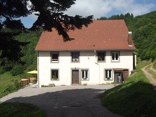 Grande ferme avec sauna  à la Bresse vue panoramique