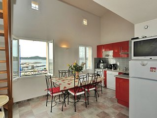 Duplex tout confort pointe de la presqu'île de Giens face à Porquerolles vue mer
