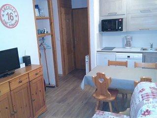 Appartement chaleureux - Au pied des pistes - 1 chambre