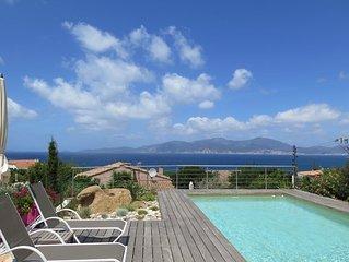 Villa  vue mer 120m2 avec piscine dans residence calme vue golf ajaccio
