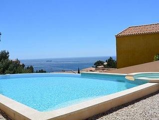 T1 indépendant dans villa avec piscine/SPA sur la mer-Ensues la Redonne