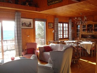 Chalet Traditionnel Bois .Prestations de qualite.Vue Exceptionnelle.WIFI.