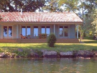 La cabane aux pastels: maison bois avec piscine au sel et vue sur le Tarn