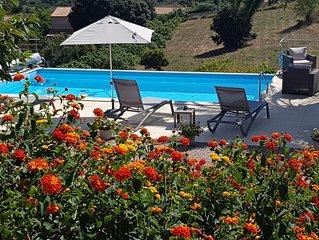 AFa Corse Rez de villa au calme avec piscine chauffee