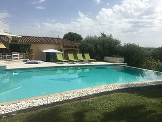 Villa, piscine securisable, jardin 3300m2 ,  Montpellier, Castelnau le Lez