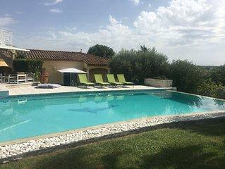 Villa, piscine sécurisable, jardin 3300m2 ,  Montpellier, Castelnau le Lez