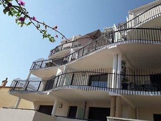 Appartement de 50 m2 pour 2 personnes vue mer et port climatisation parking