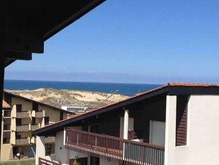 A 150 m des plages, charmant appartement avec vue ocean et terrasse