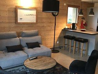 Bel appartement, neuf de 70 m² tout équipé avec 2 chambres  2 sdb , 2 wc, 5 pers