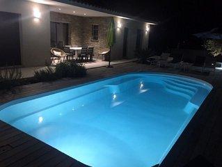 Villa 90 m2  avec piscine privee et jardin cloture  5 mn plage & 20 mn montagne