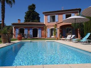 Cannes Mandelieu belle villa avec piscine privée.