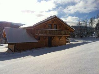 Chalet Xonrupt-Longemer plein sud pour 10 peronnes avec Wifi, Jacuzzi et Sauna