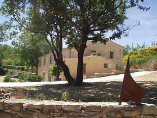 Location d'une Maison independante avec  piscine dans parc du Luberon