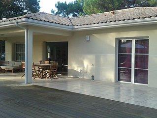 Belle villa récente au Cap Ferret.Quartier recherché du Mimbeau