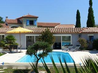 Plein pied avec piscine et terrasse au calme près d'Argelès