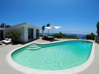 Artistic Modern Mid Century with Panoramic Ocean Views and Pool