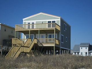 Oceanfront, Sweet Life on Holden Beach, 4 Bedroom, Family Vacation Home