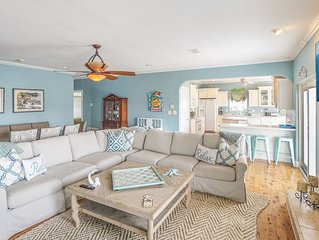 One Block from the Beach, Expansive Family Room, Huge Deck!