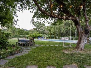 Brambleberry - Idyllic Private Estate, Views, Pool, Spa, Bocce, Best Location!