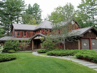 Adirondack Style home-sleeps 10-Private-views of golf course-pet friendly;