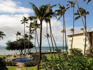 2 Bed/2 bath large Maui beachfront condo w/ free wi-fi