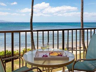 Maui Spectacular Prime Beach Front View!*Kanai A Nalu 204*