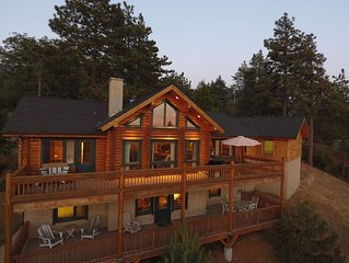 Idyllwild Vacation Rental, Log Cabin in the Sky, with A/C! Amazing View!