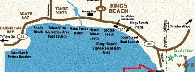 Une des meilleures plages de Tahoes à distance de marche de la maison