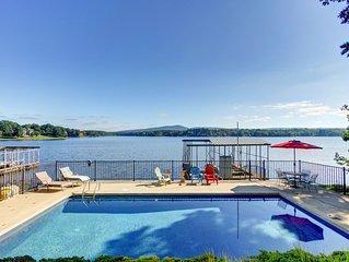 Large, Spacious Lakefront Home w/ Pool & Mountain Views!