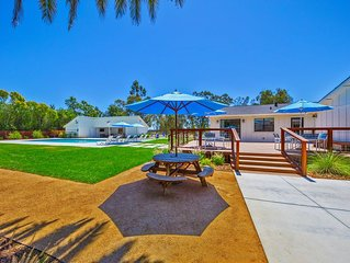 The Ranch House-4 Bedroom, 3.5 Bathroom, Sleeps 8. Beautiful backyard w/ pool, h