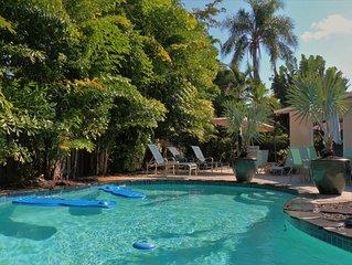 Brassrail Villa - Beautiful Tropical Retreat / Private Heated Pool