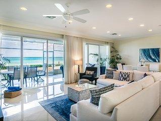 Prime Residence #6 on 7 Mile Beach, High-End Ground Floor Beachfront Condo