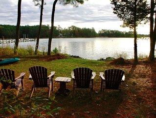 Hot Tub/Warming Hut, Screened Deck, Encl. Porch, Kayaks, Bikes, Fishing Poles
