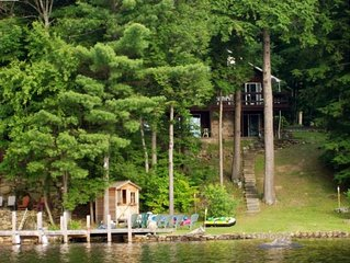 Gorgeous Lakefront Adirondack Chalet, Close to Lake George, Private Dock