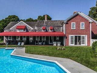Pristine, carefully restored, 1700s farmhouse, inground pool, private 3 acres