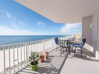Gulf front 4B4B spacious condo with magnificent unobstructed ocean view!