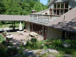 Luxury Home In Scenic Wooded Area With  small lake, Sleeps 16